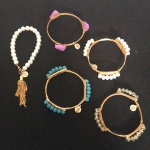 Bourbon and Bowties bracelet set NEW